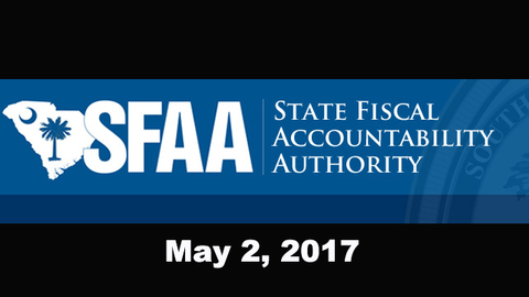 still of video titled S.C. State Fiscal Accountability Authority Meeting: May 2, 2017