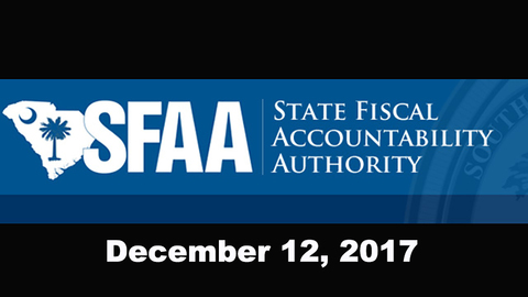 still of video titled S.C. State Fiscal Accountability Authority Meeting: December 12, 2017