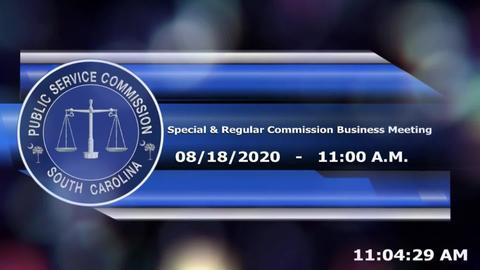 still of video titled 8/18/2020 - Special Commission Business Meeting