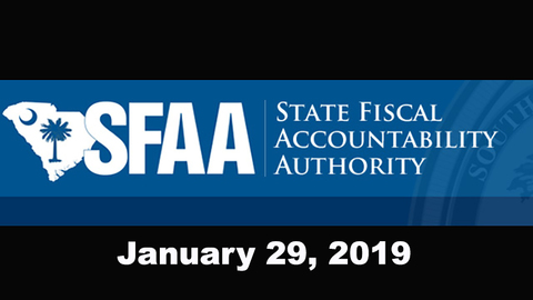 still of video titled S.C. State Fiscal Accountability Authority Meeting: January 29, 2019