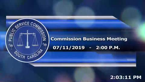 still of video titled 07-11-2019 - Public Service Commission Business Meeting