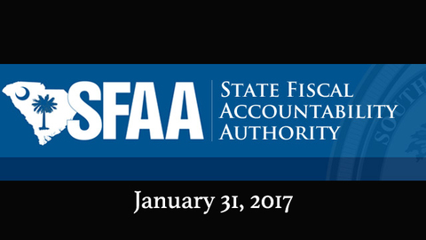 still of video titled S.C. State Fiscal Accountability Authority Meeting: January 31, 2017