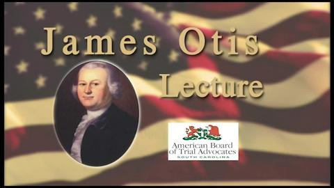 still of video titled James Otis Lecture 2020