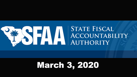 still of video titled S.C. State Fiscal Accountability Authority Meeting: March 3, 2020