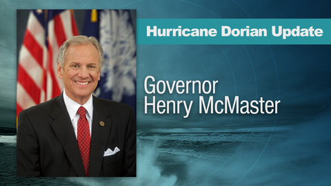 still of video titled Governor's Evening Briefing on Hurricane Dorian - 09/01/2019 at 6:30 PM