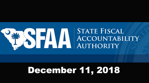 still of video titled S.C. State Fiscal Accountability Authority Meeting: December 11, 2018