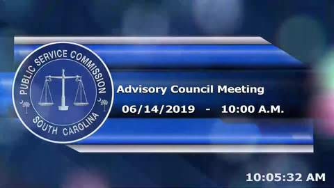 still of video titled 6-14-19 - Public Service Commission Advisory Council Meeting