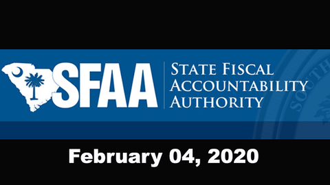 still of video titled S.C. State Fiscal Accountability Authority Meeting: February 4, 2020