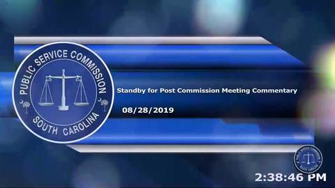 still of video titled 8/28/19 - Post Commission Meeting Commentary