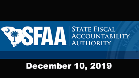 still of video titled State Fiscal Accountability Authority Meeting: December 10, 2019