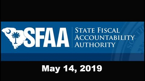 still of video titled S.C. State Fiscal Accountability Authority Meeting: May 14, 2019