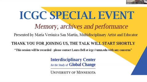 Thumbnail for entry ICGC Special Event: Maria Veronica San Martin