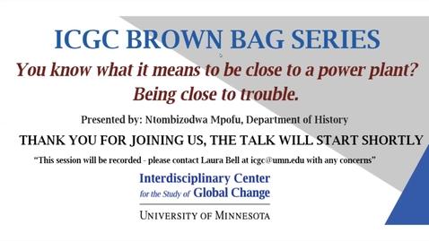 Thumbnail for entry ICGC Brown Bag Series: Ntombizodwa Mpofu