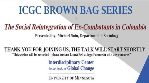 Thumbnail for entry ICGC Brown Bag Series: Michael Soto