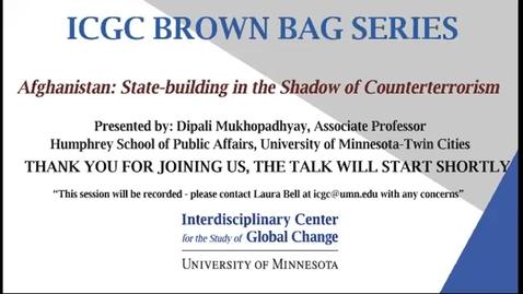 Thumbnail for entry ICGC Brown Bag Series: Dipali Mukhopadhyay
