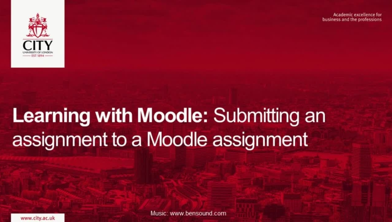 Learning with Moodle: Submitting an assignment to a Moodle Assignment.