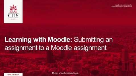 Thumbnail for entry Learning with Moodle: Submitting an assignment to a Moodle Assignment.
