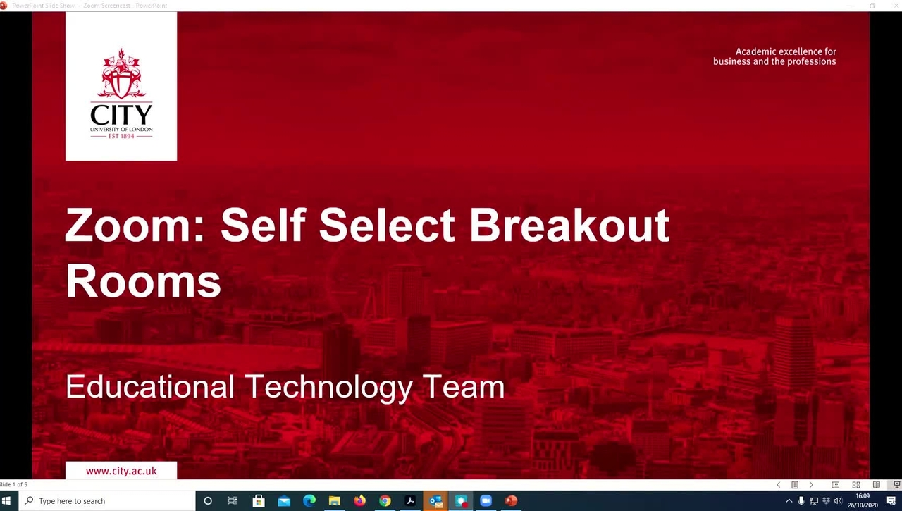 Self select breakout rooms in Zoom 2020