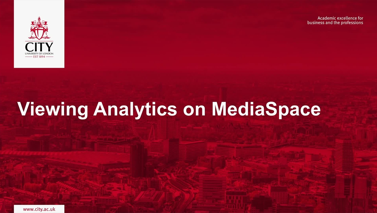 Viewing Analytics on MediaSpace