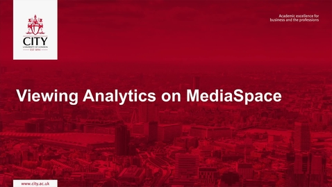 Thumbnail for entry Viewing Analytics on MediaSpace