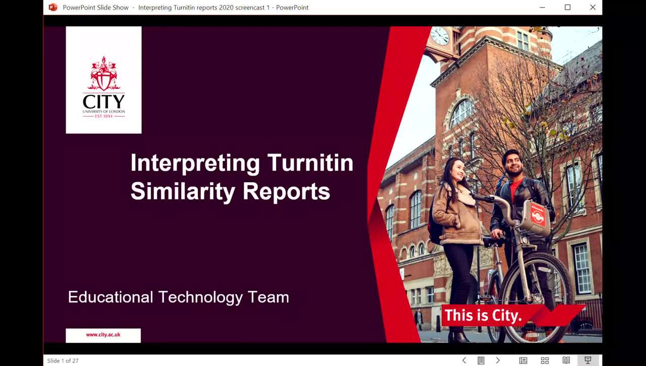 Interpreting Turnitin Similarity Reports Screencast 2