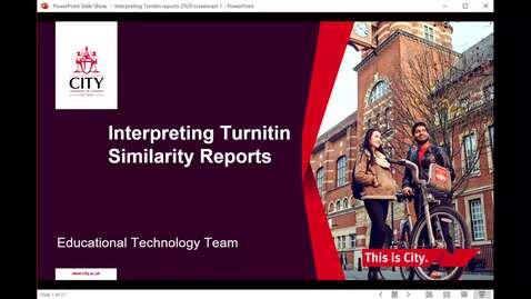 Thumbnail for entry Interpreting Turnitin Similarity Reports Screencast 2