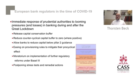 Thumbnail for entry Finance in the time of COVID-19 - Professor Thorsten Beck