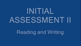 Thumbnail for entry 4 inital assessment read write