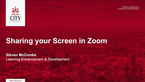 Thumbnail for entry Sharing your Screen in Zoom