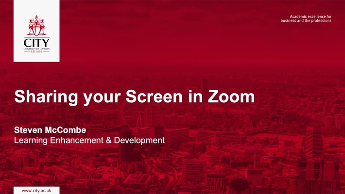 Sharing your Screen in Zoom