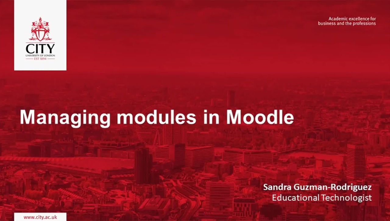 Managing modules in Moodle