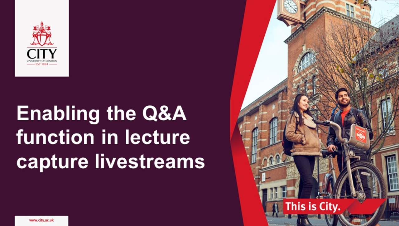 Enable the Q&A function in Lecture Capture Livestream