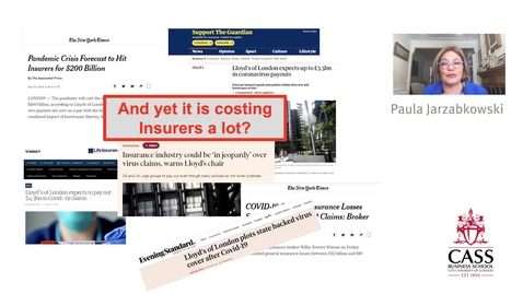 Thumbnail for entry Pandemic and Insurance - Professor Paula Jarzabkowski