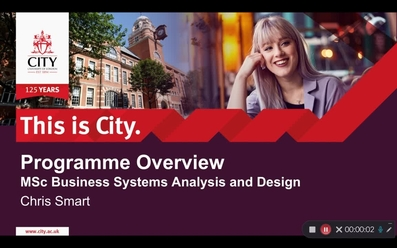 Msc Business Systems Analysis And Design Mediaspace City University Of London