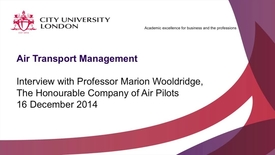 Thumbnail for entry Interview with Professor Marion Wooldridge, Honourable Company of Air Pilots