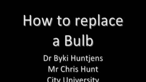 Thumbnail for entry How to change a bulb