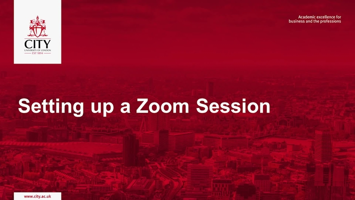 Setting Up A Zoom Session Workshop