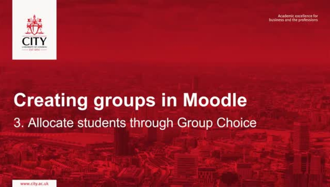Allocate students to groups through group choice