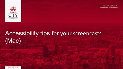 Thumbnail for entry Accessibility Tips for your Screencasts (Mac)