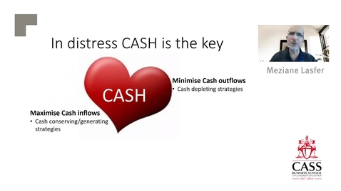 Thumbnail for entry Financial Strategies Companies Adopt in Financial Distress (Part 1) - Professor Meziane Lasfer