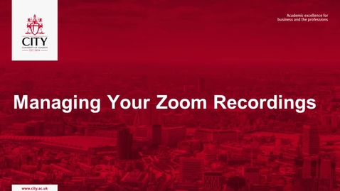 Thumbnail for entry Managing Zoom Recordings