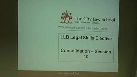 Thumbnail for entry Legal Skills Revision Session