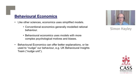 Thumbnail for entry Behavioural Economics and Social Distancing - Dr  Simon Hayley