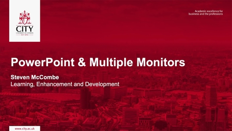 Thumbnail for entry PowerPoint &  Multiple Monitors