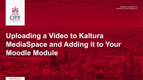 Thumbnail for entry Uploading a Video to Kaltura MediaSpace and Adding in to Your Moodle Module