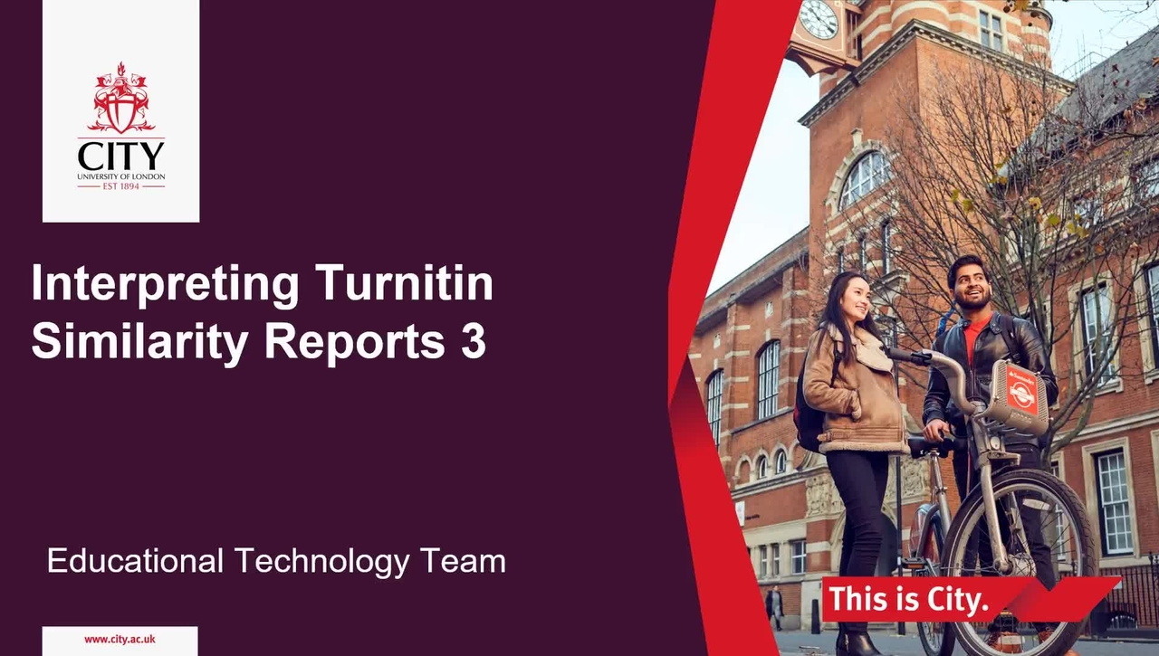 Interpreting Turnitin Similarity Reports Screencast 3