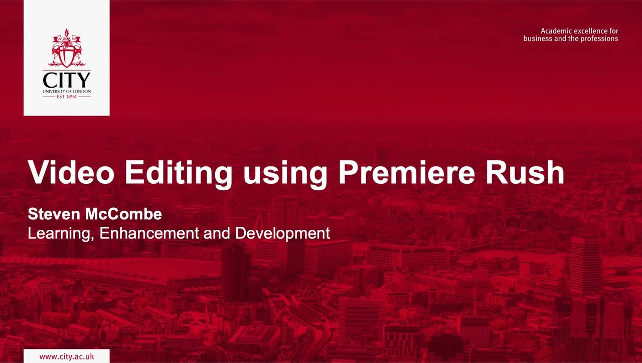 Video Editing using Premiere Rush