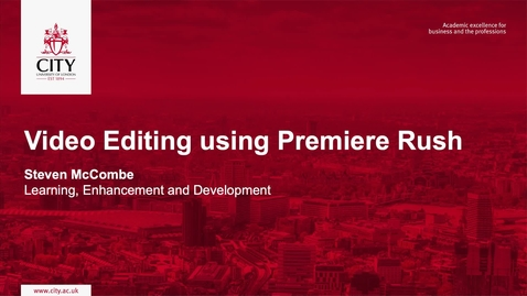 Thumbnail for entry Video Editing using Premiere Rush