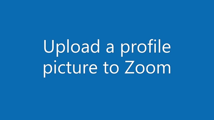 Upload a profile picture to Zoom