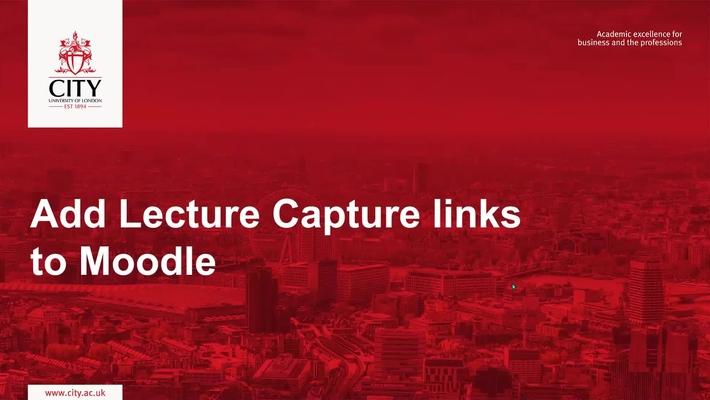 Add lecture capture links to your Moodle module